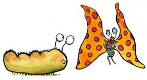 Caterpillar-butterfly-cartoon